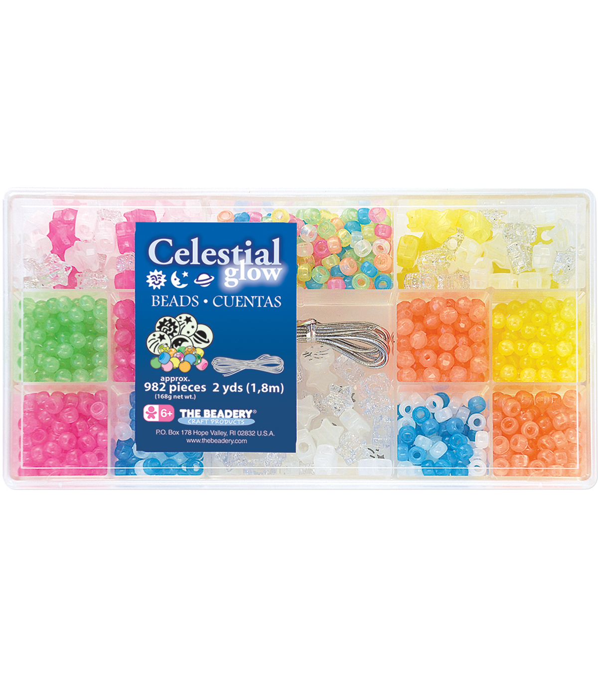 Bead Box Kit 982 Beads/Pkg-Celestial Glow