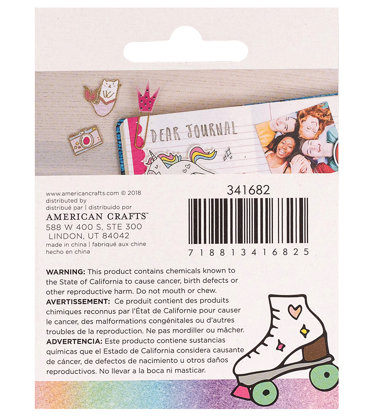 American Crafts Hello Dreamer Cat Adhesive Enamel Sticker