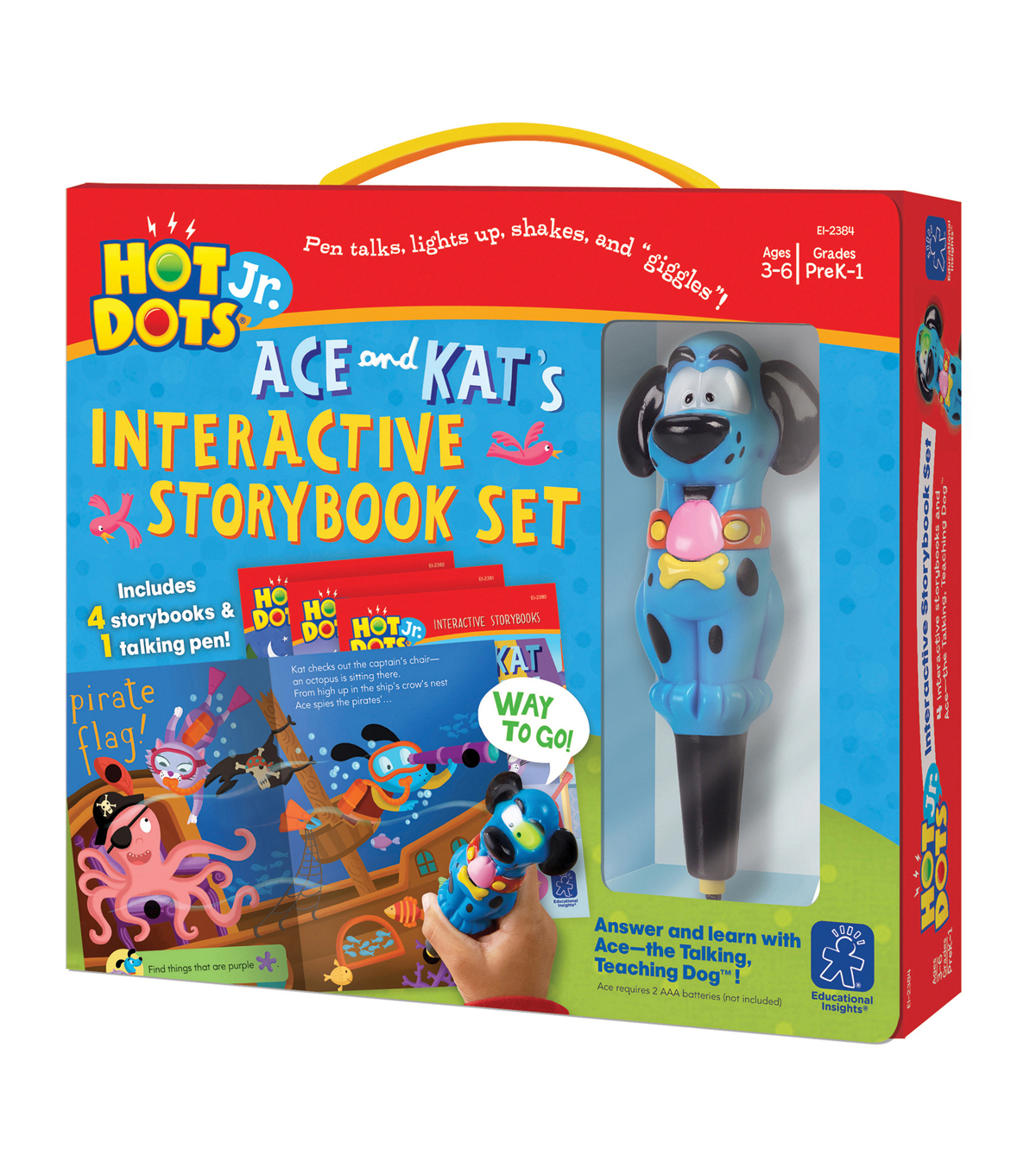 Hot Dots Jr. Interactive Storybooks with Ace Talking Teaching Dog Pen