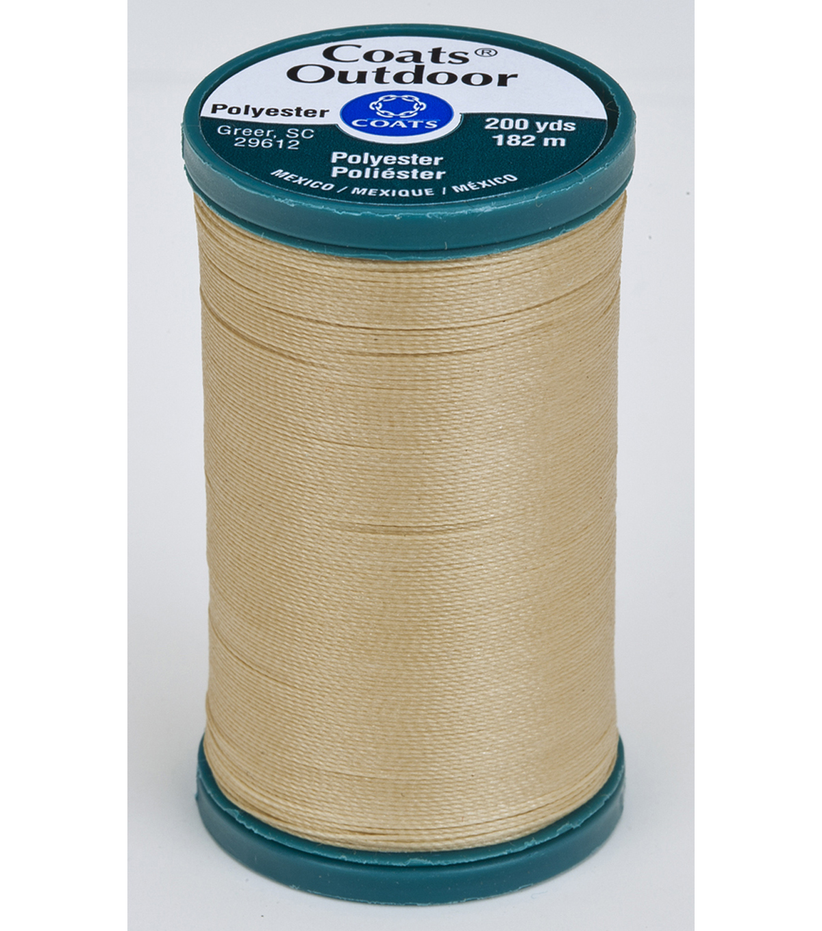 Coats & Clark Outdoor 200yd Thread, Coats Outdoor 200yd Buff