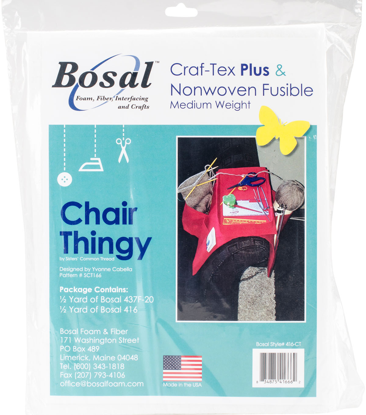 Bosal Craf-Tex Plus & Nonwoven Fusible Medium Weight-Chair Thingy