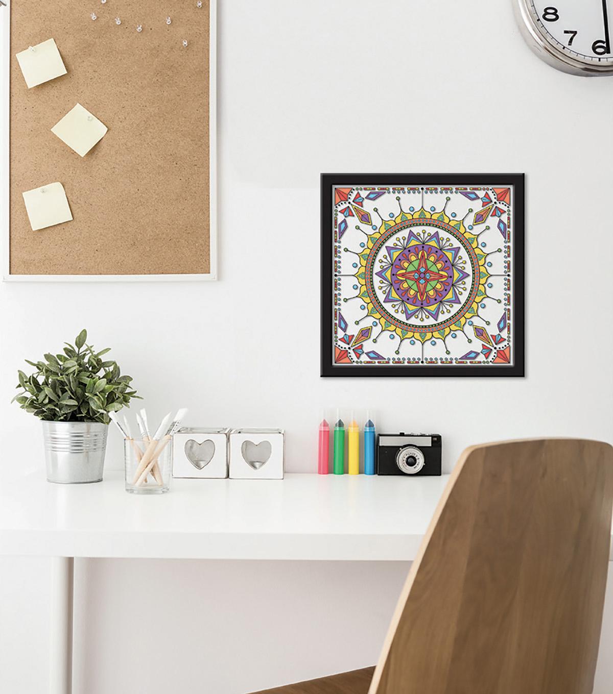 12x12 Color In Kaleidoscope 1 Float Frame Black Joann