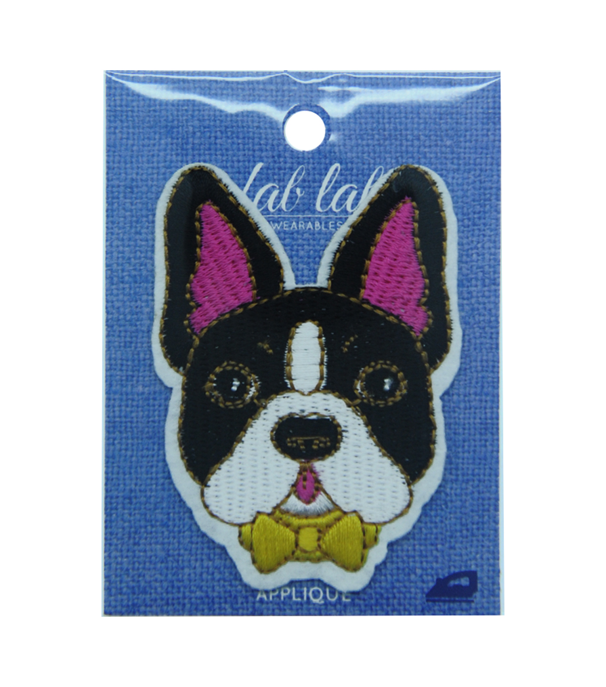 Fab Lab Wearables Embroidery Dog Iron-on Applique