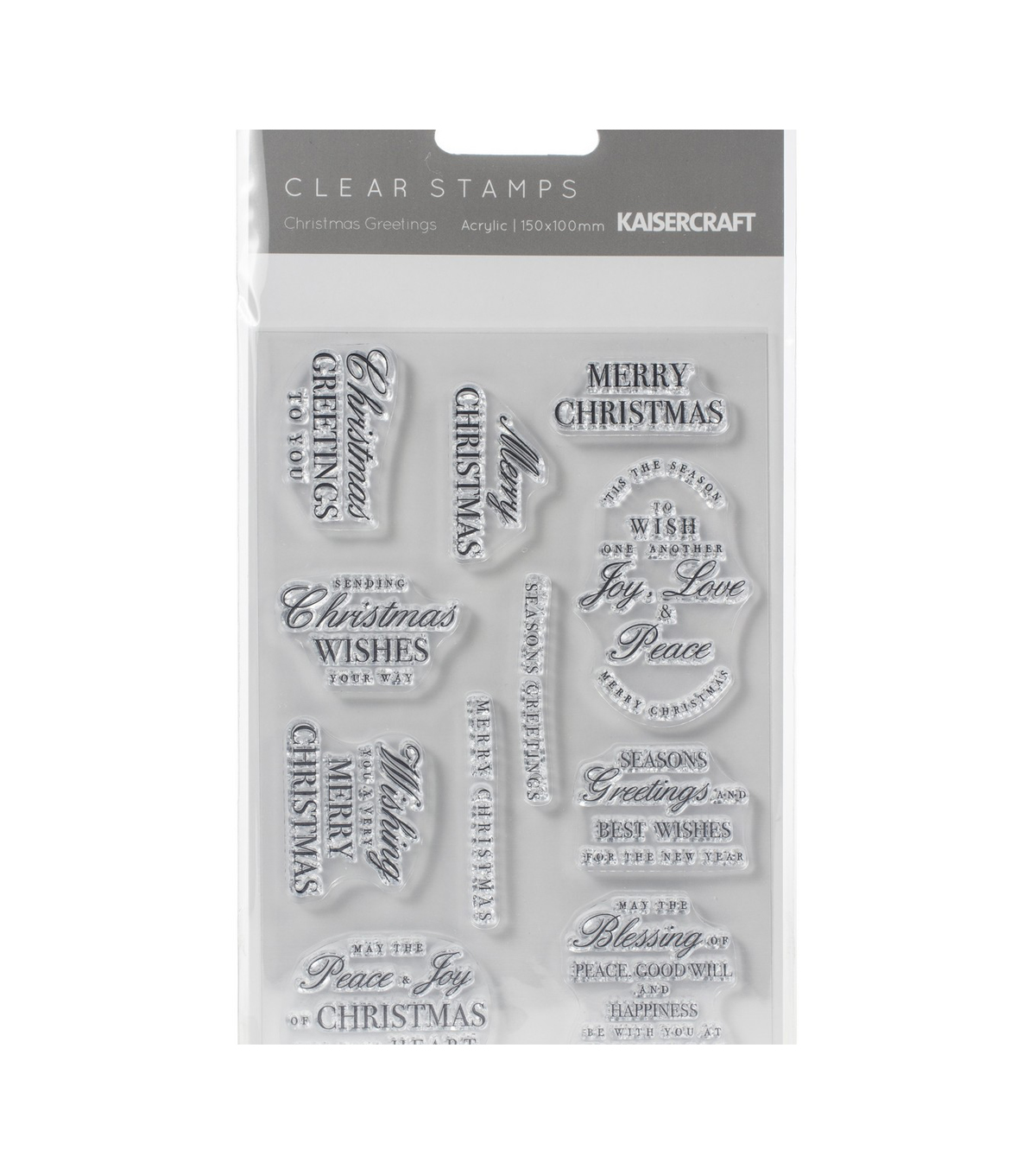Kaisercraft Clear Stamp 6\u0027\u0027X4\u0027\u0027-Christmas Greetings