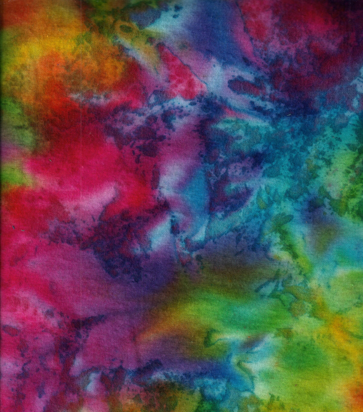 Snuggle Flannel Print Fabric -Classic Tie Dye