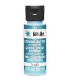 Plaid Folk Art Extreme Glitter Paint 2 Ounces, Turquoise