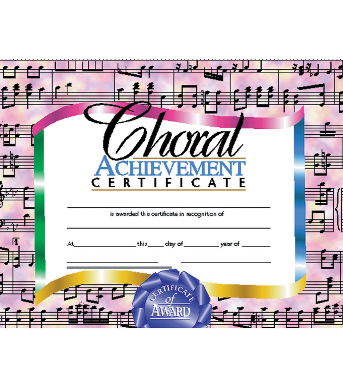 Hayes Choral Achievement Certificate, 30 Per Pack, 6 Packs