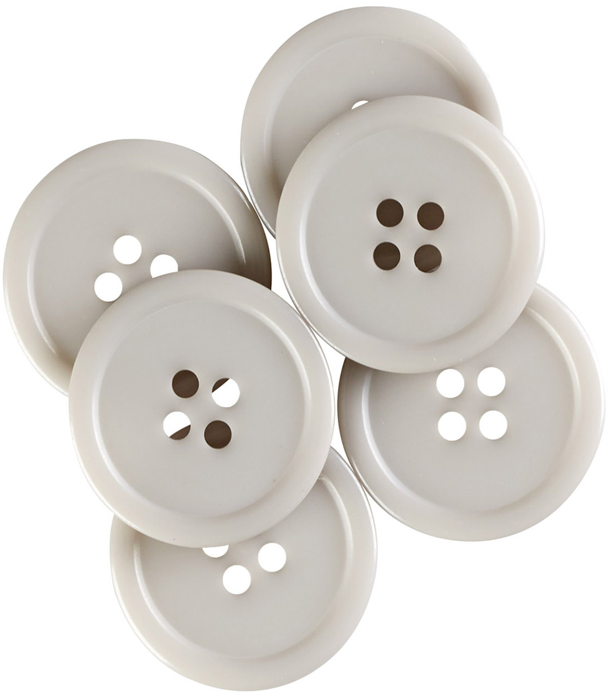 My Favorite Colors 6 pk 0.88'' Buttons Gray