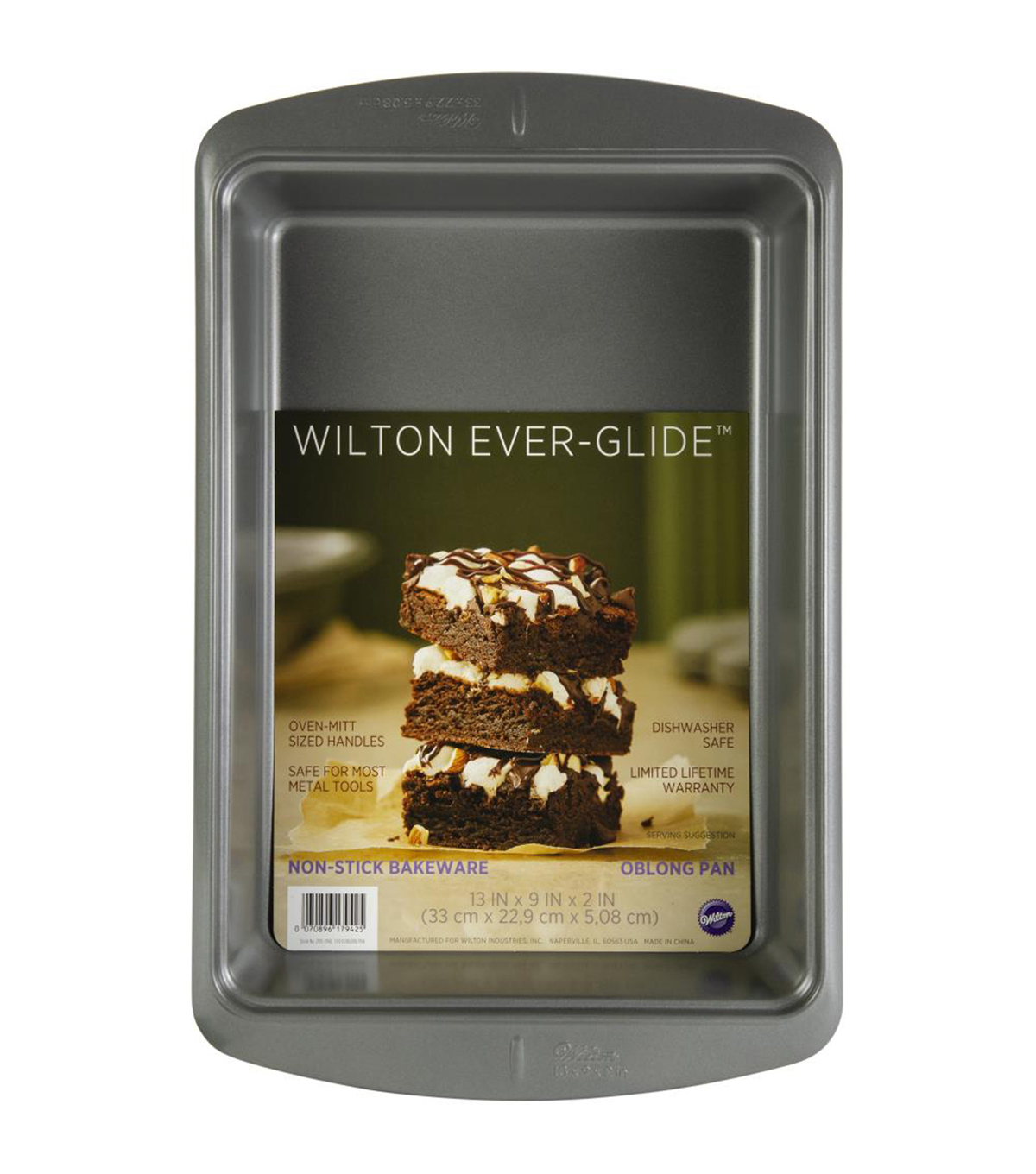 Wilton Ever-Glide Non-Stick Oblong 13\u0022X9\u0022 Oblong Baking Pan
