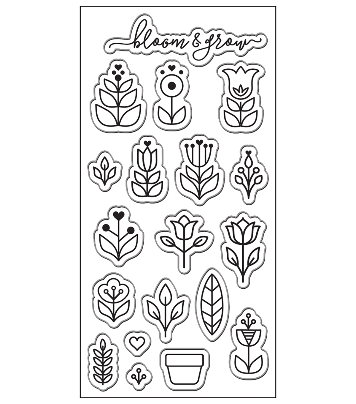 Lia Griffith Clear Stamps-Scandinavian Garden