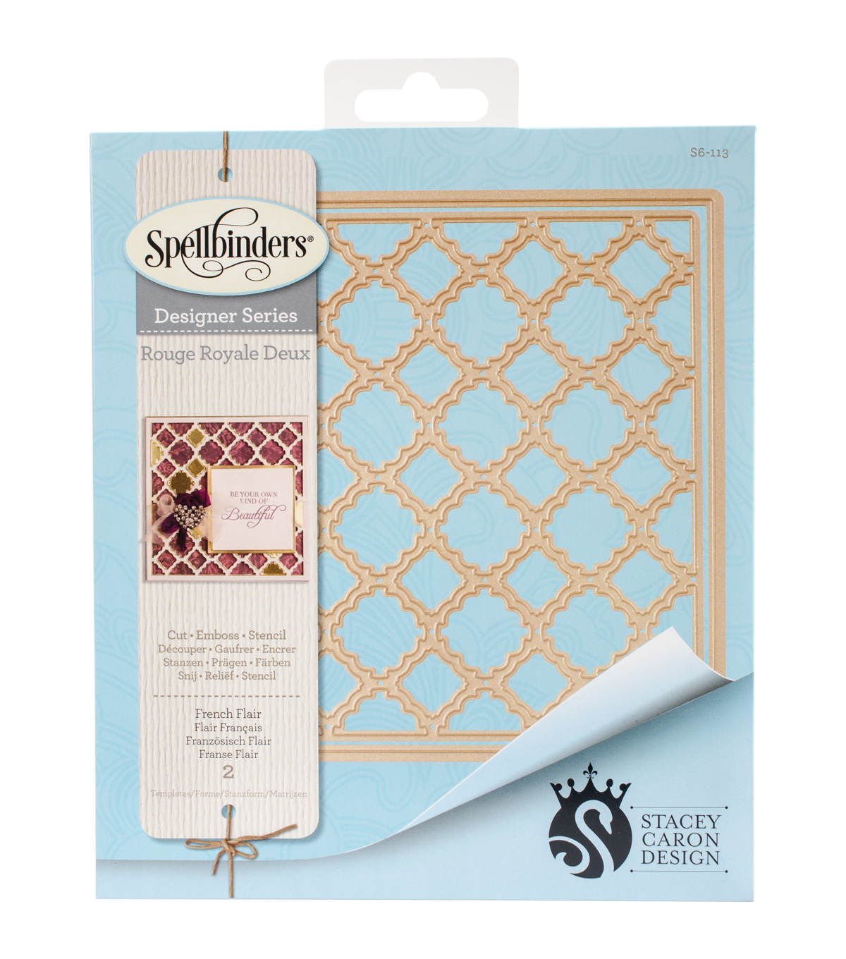 Spellbinders Card Creator Stacey Caron Etched Die-French Flair