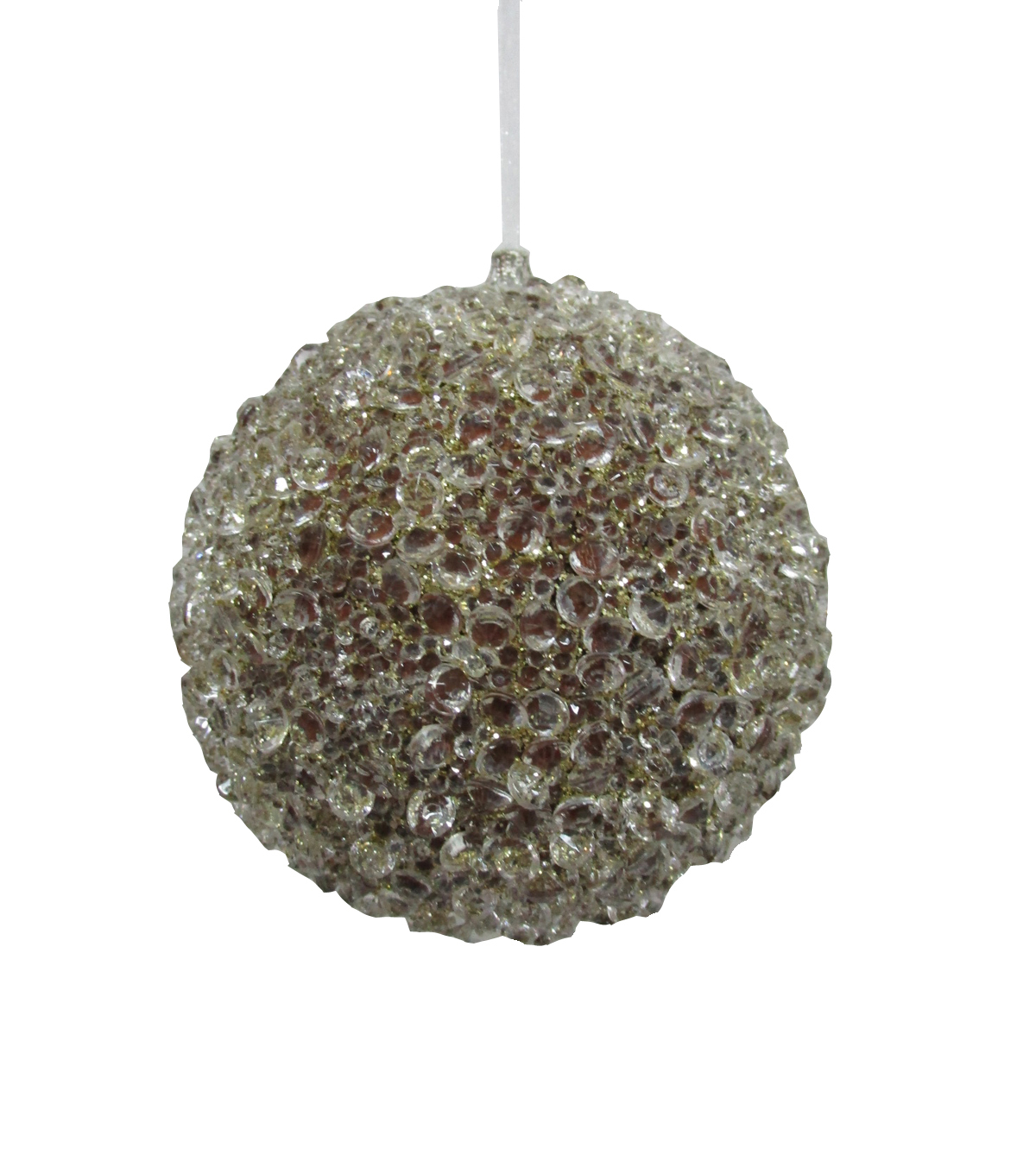 Maker\u0027s Holiday Glistening Pines Chunky Glitter Ice Bulb Ornament