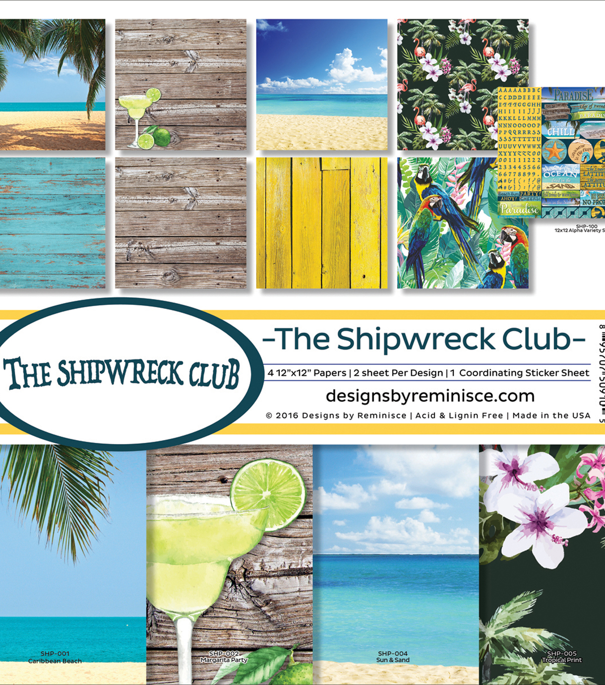 Reminisce Collection Kit 12\u0022X12\u0022-Shipwreck Club