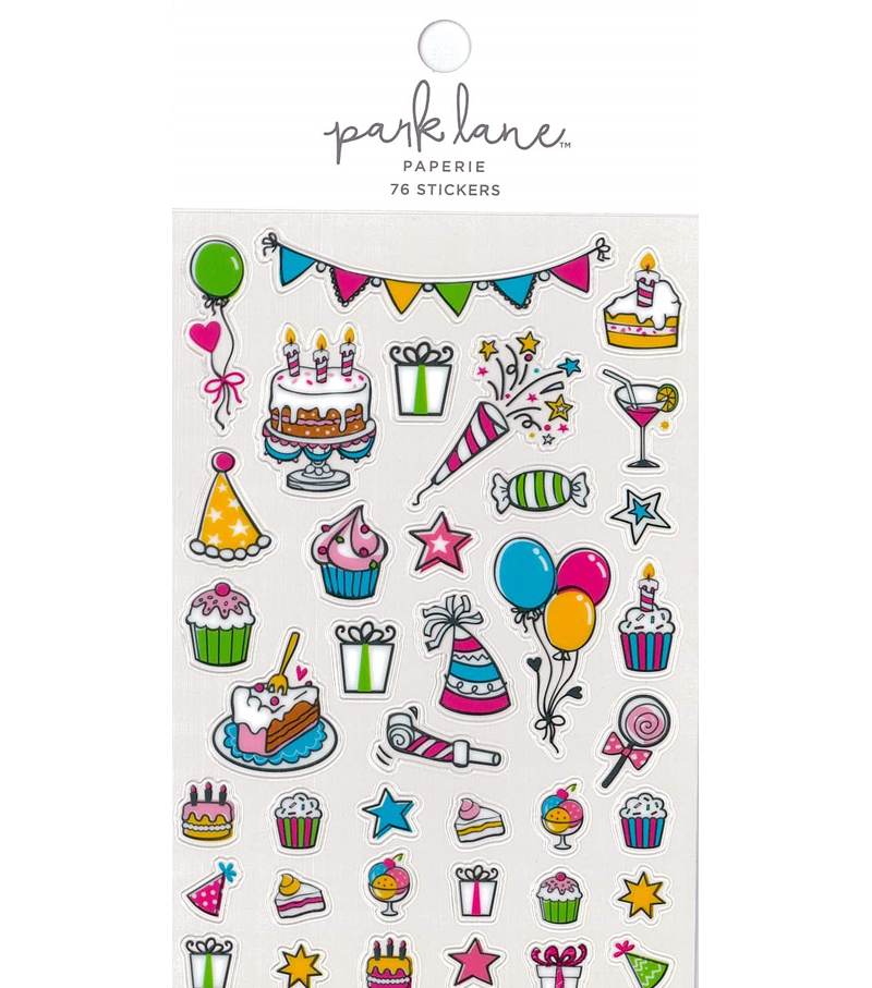 Park Lane Paperie 76 pk Stickers-Celebrate