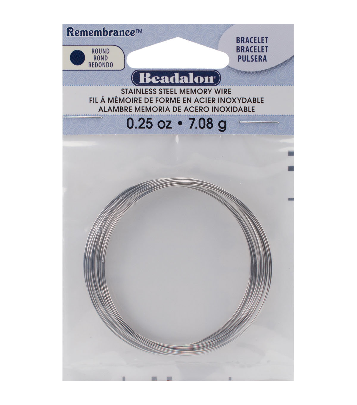 Beadalon Remembrance Memory Wire Bracelet Coil - Stainless Steel | JOANN