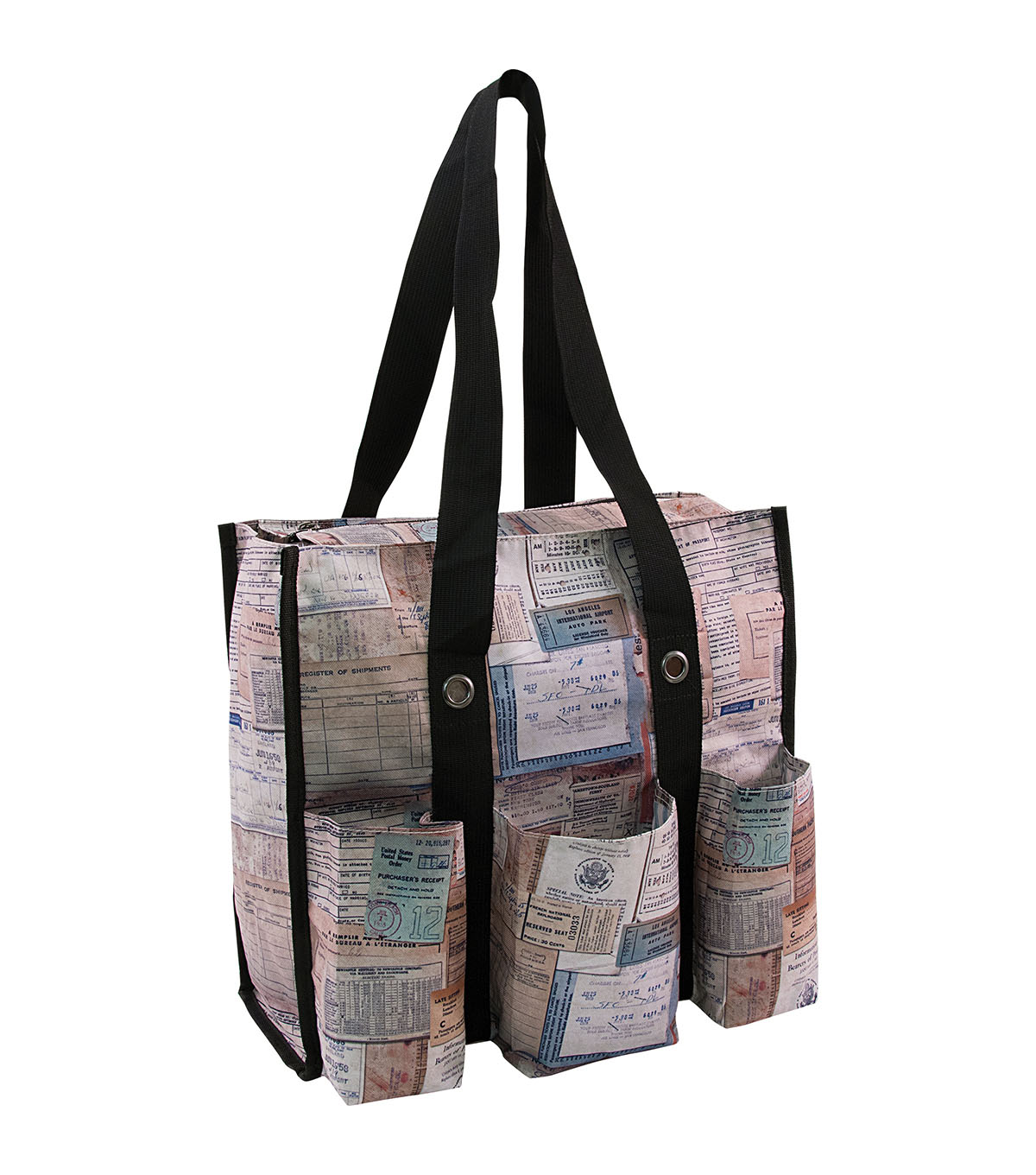 Tim Holtz Storage Studios Documentation Shoulder Tote-1.25\u0022X14.5\u0022X14.5\u0022