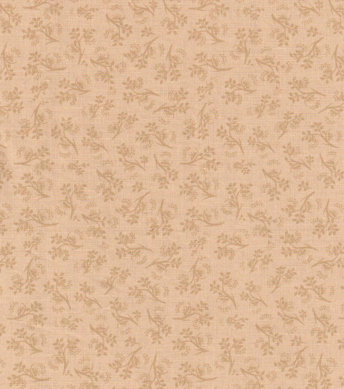 Keepsake Calico Cotton Fabric 43\u0022-Tan Vine