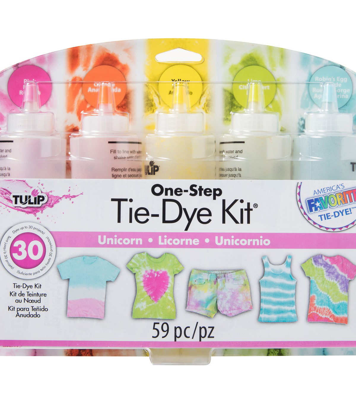 Tulip One-Step 5-Color Tie-Dye Kit-Unicorn