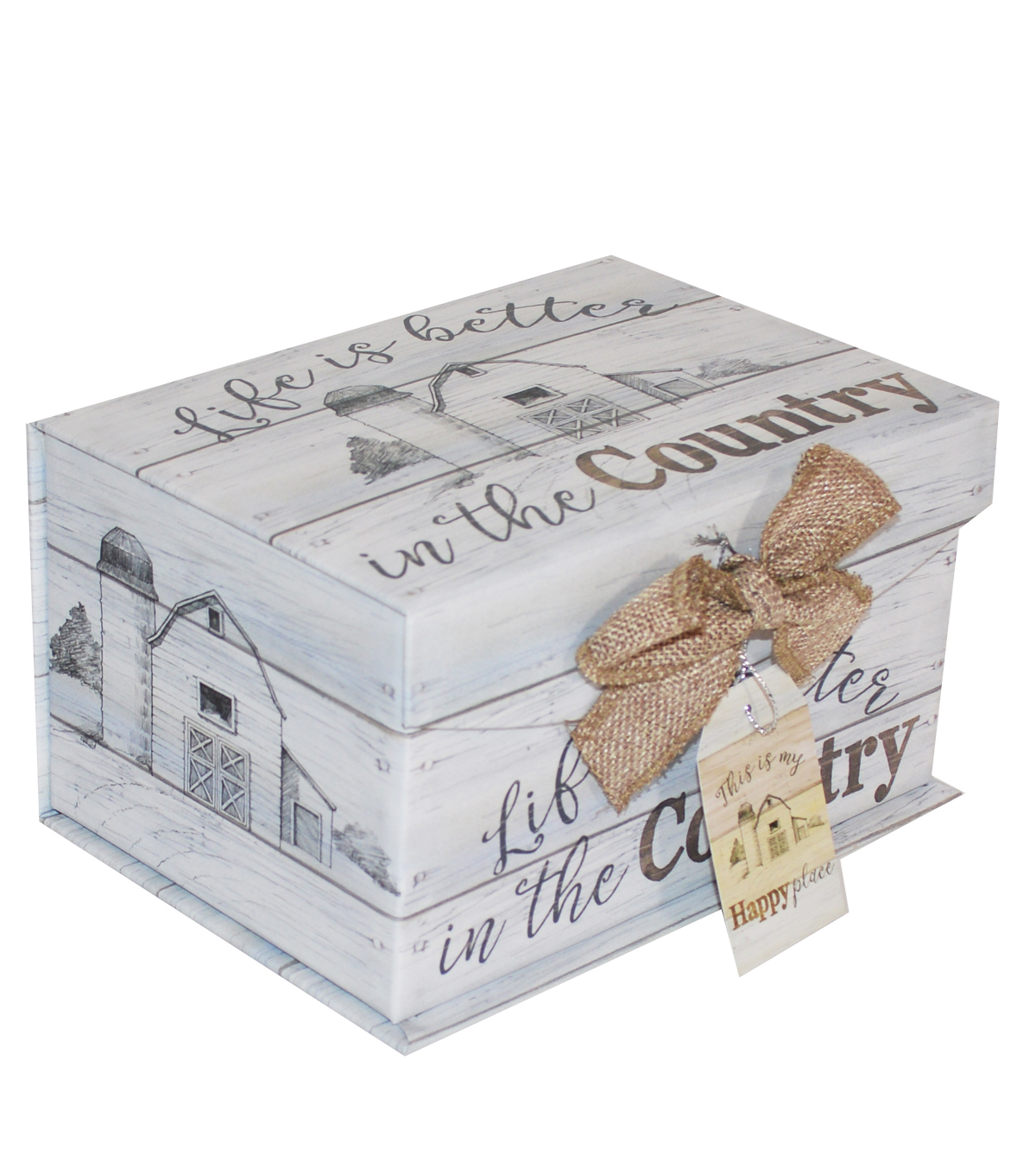 Organizing Essentials Small Fliptop Storage Box-Farmhouse Sentiments 2