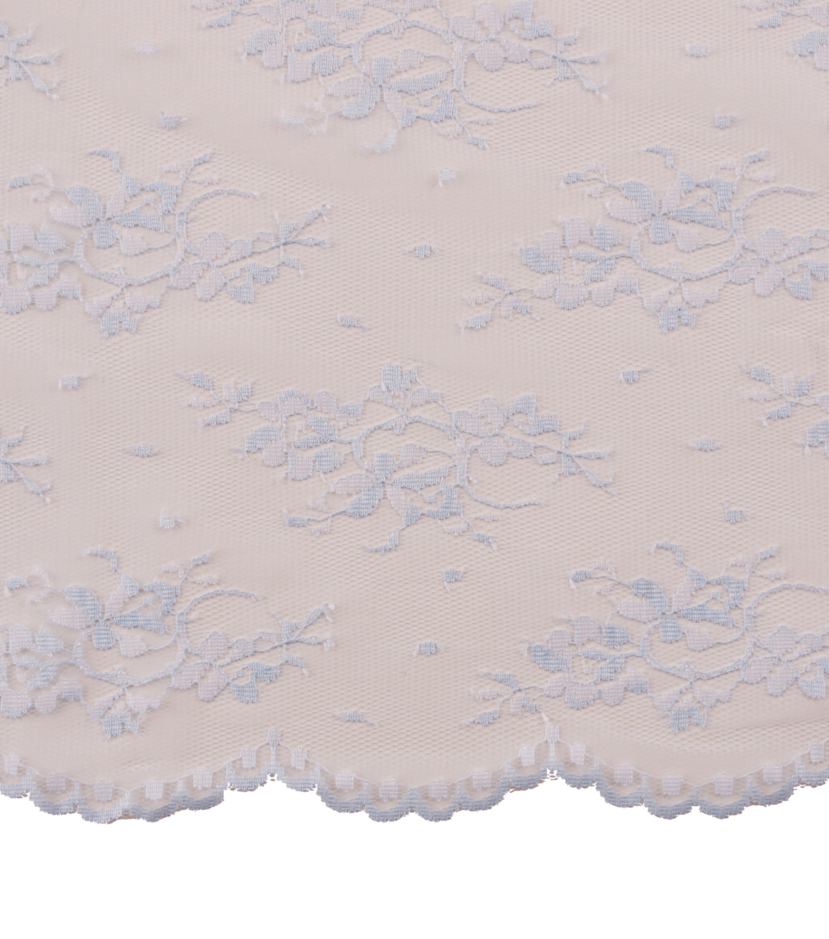 Casa Collection Chantilly Lace Fabric -Solids, Icy Blue