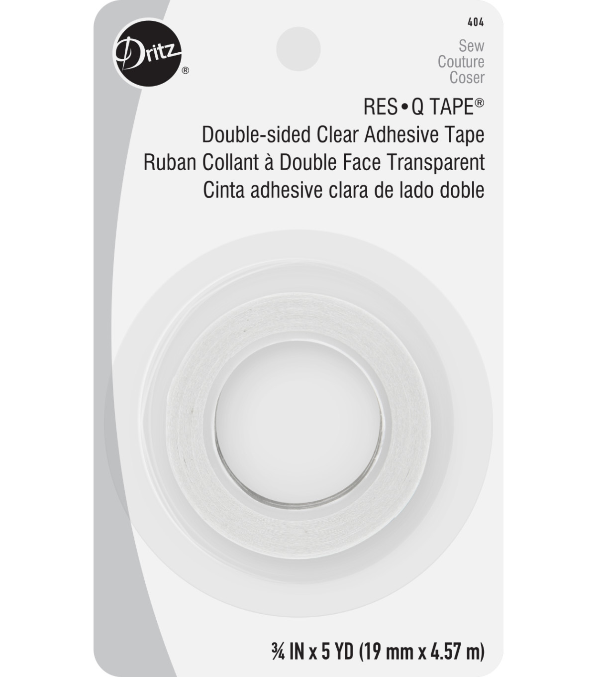 Dritz Res Q Double Sided Clear Adhesive Tape 34w X 5yds Joann