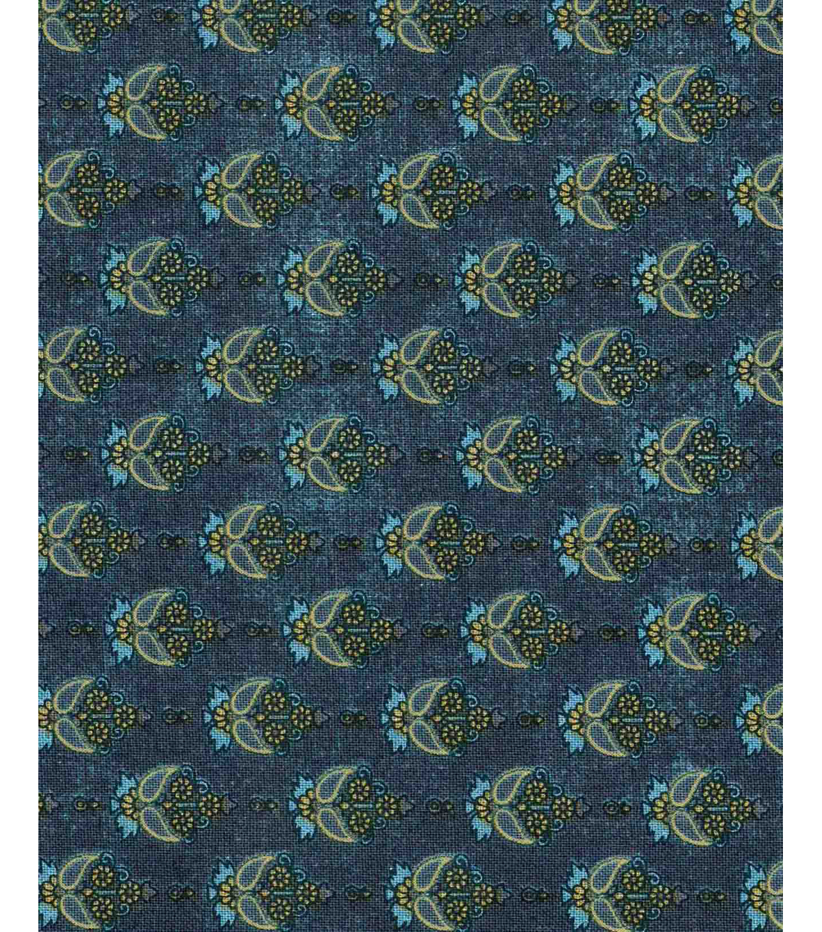 Vintage Cotton Fabric 43\u0022-Fountain Damask Blue