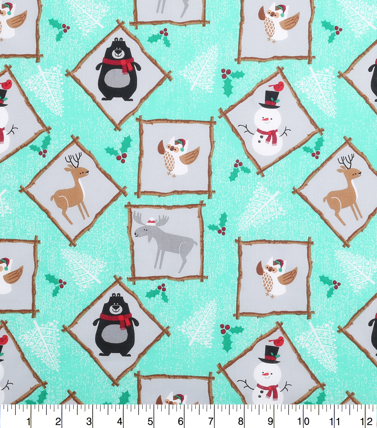 Holiday Cotton Fabric -Northwood Friends