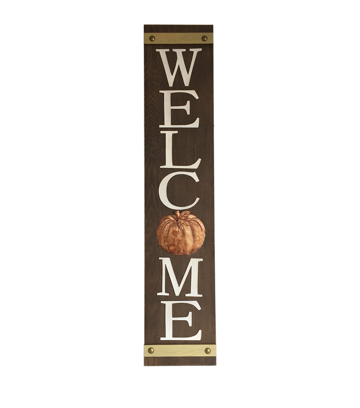 Simply Autumn Welcome Wood Porch Sitter