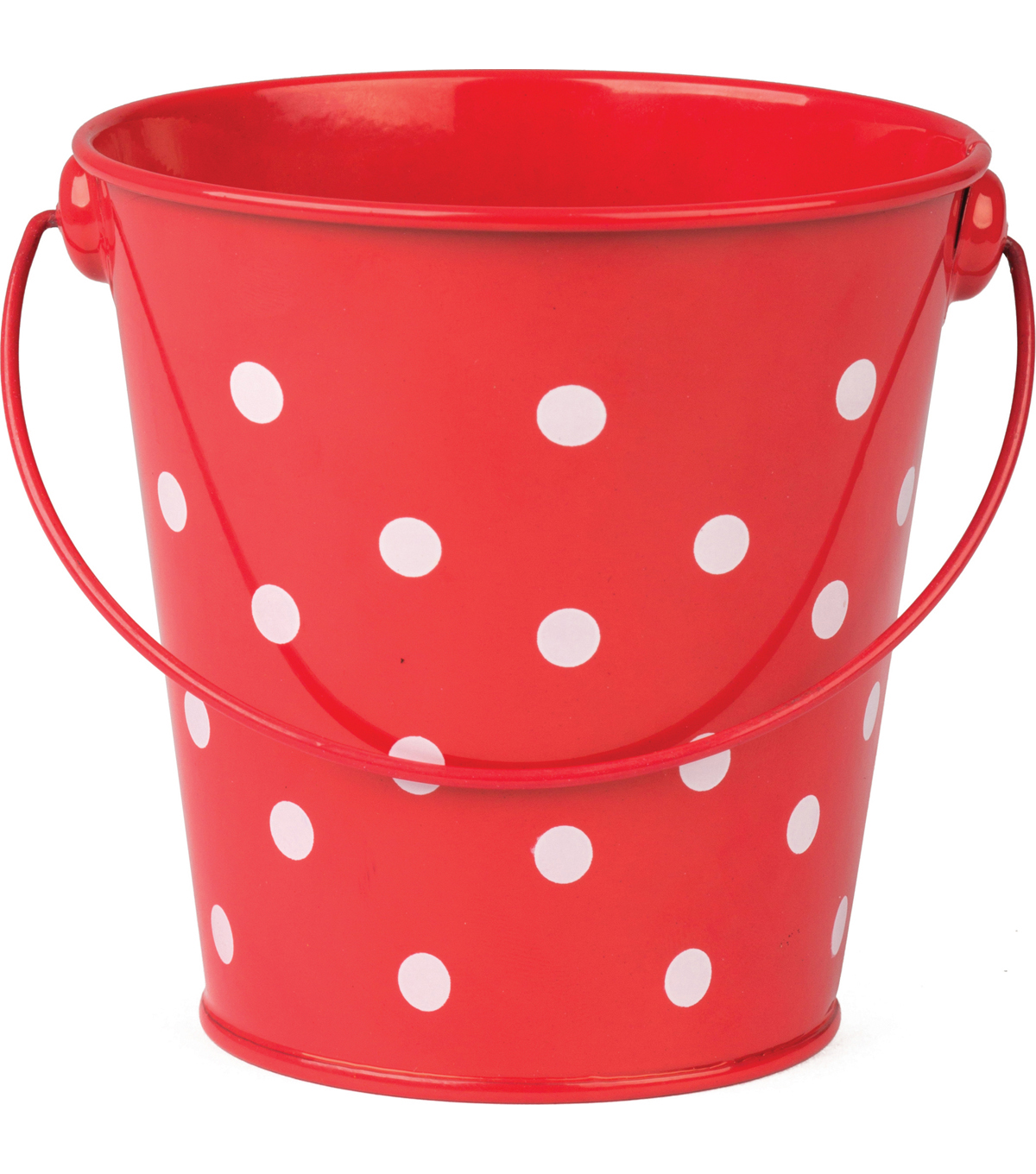 Teacher Created Resources Polka Dots Bucket, Red, Pack of 6