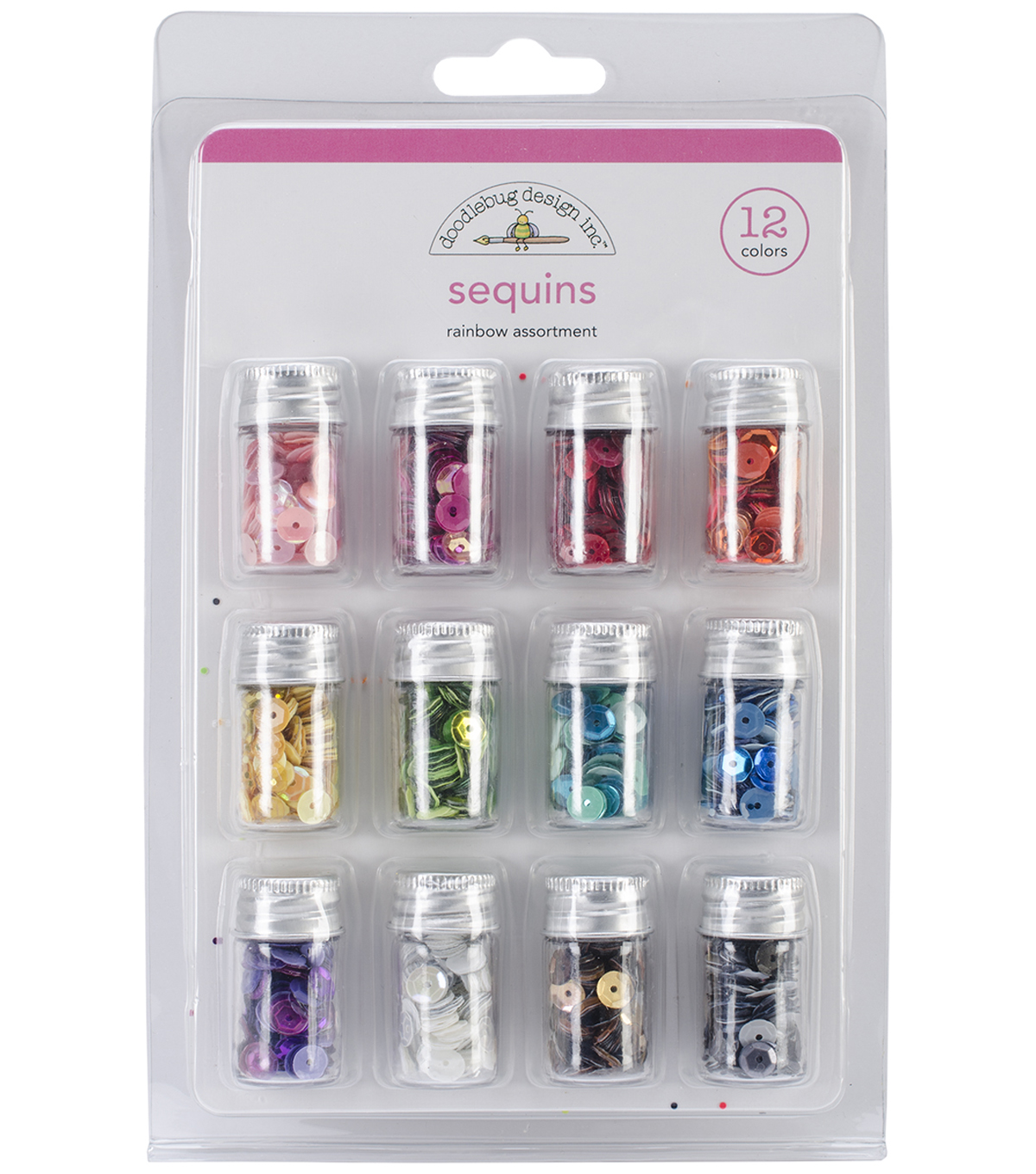 Kraft In Color sequins Assorted-Rainbow Pack