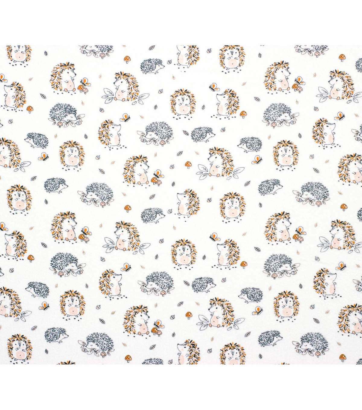 Super Snuggle Flannel Fabric-Baby Hedgehog