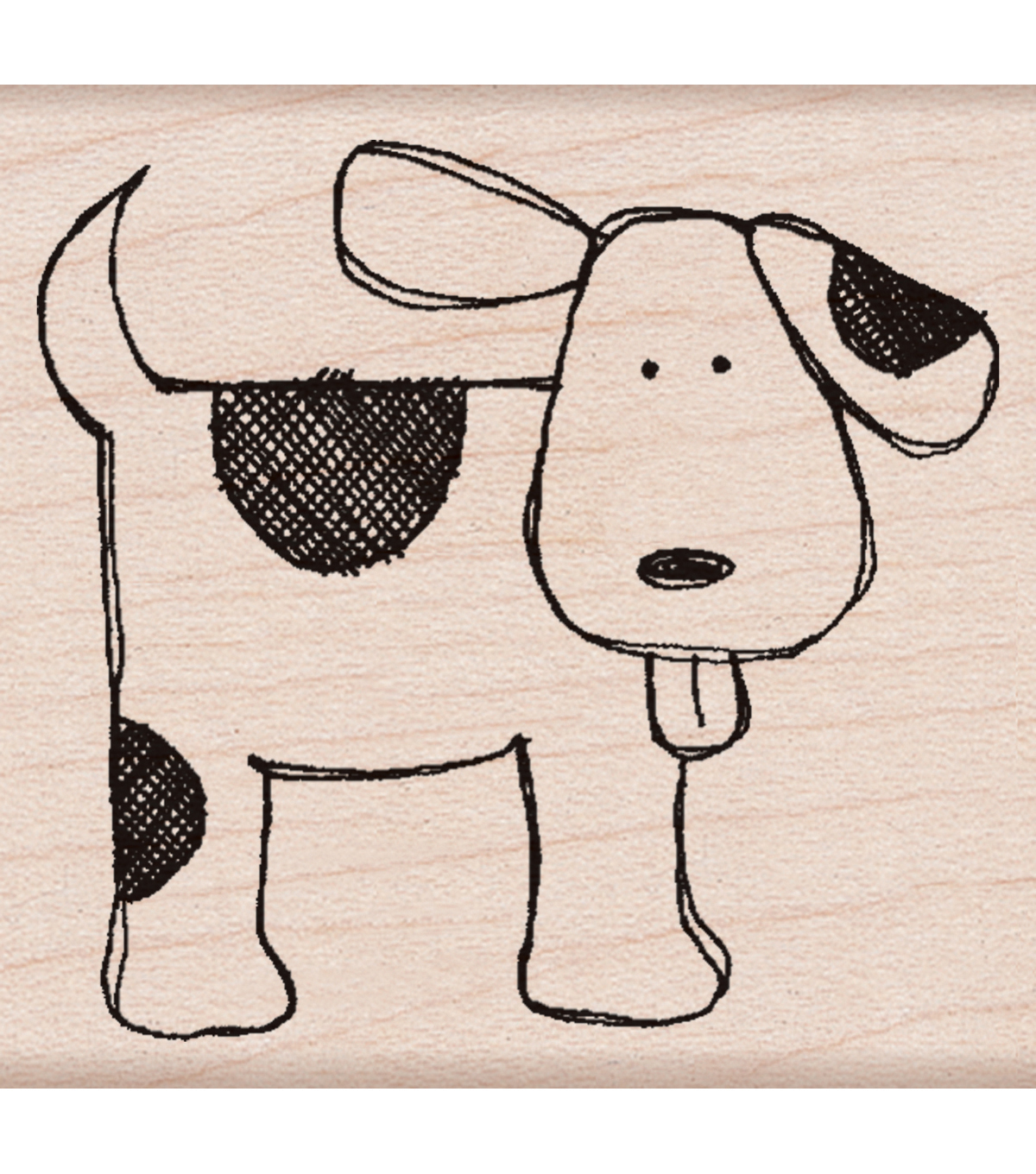Hero Arts Wood Mounted Rubber Stamp-Happy Dog
