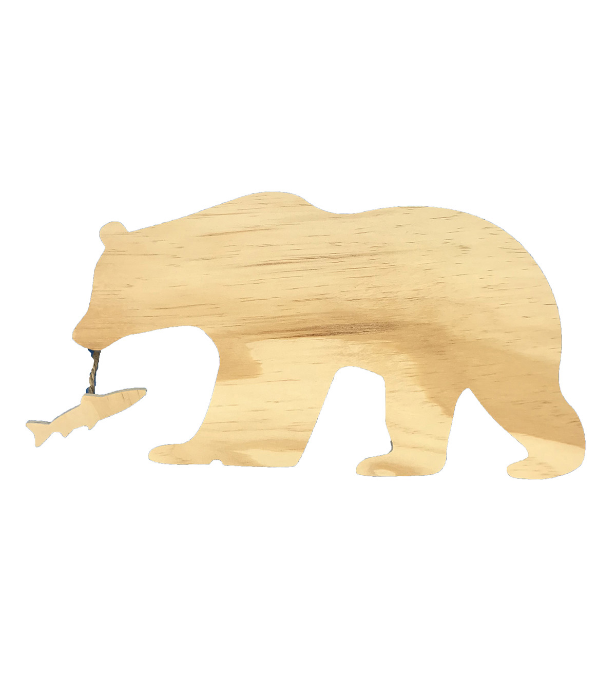 Camp Ann Crafts Wooden Bear with Fish