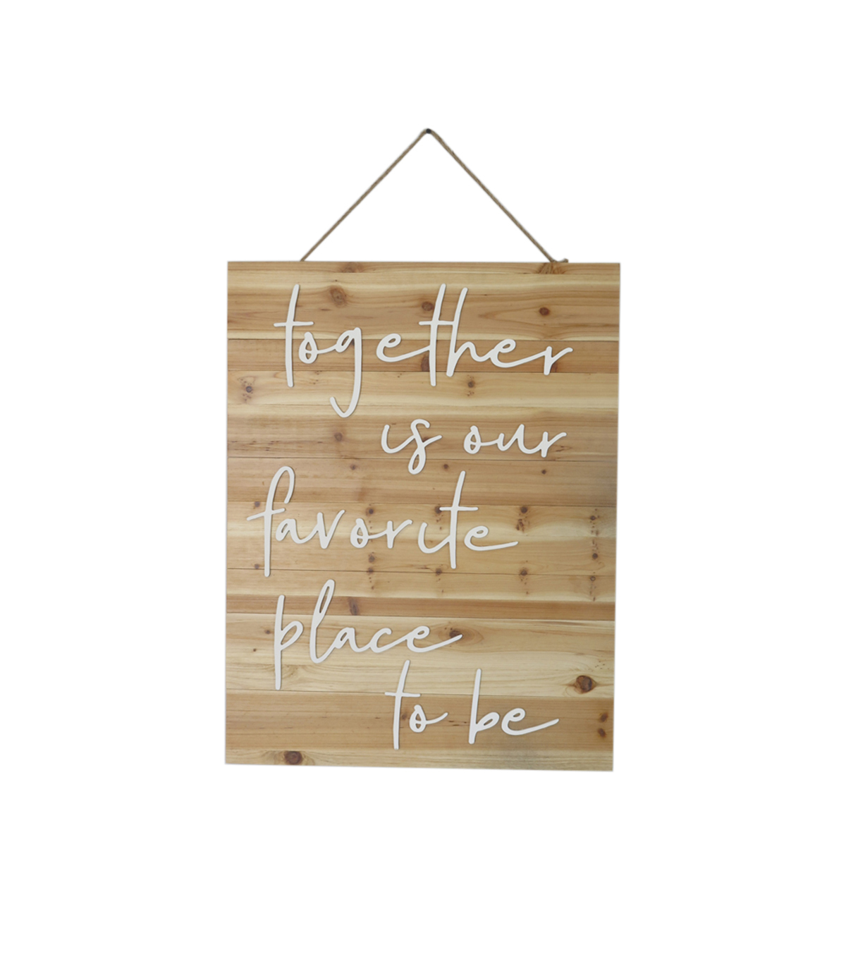 Simply Autumn Large Wood Wall Decor-Together is Our Favorite Place to be