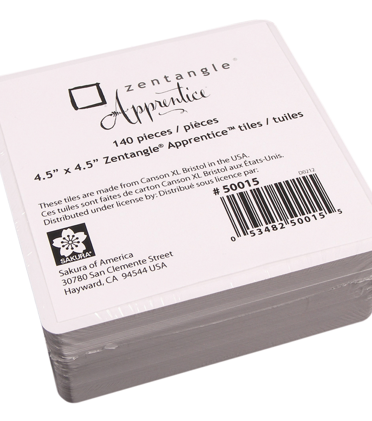 Zentangle Apprentice Refill Tiles 4.5\u0022X4.5\u0022 140 Pack