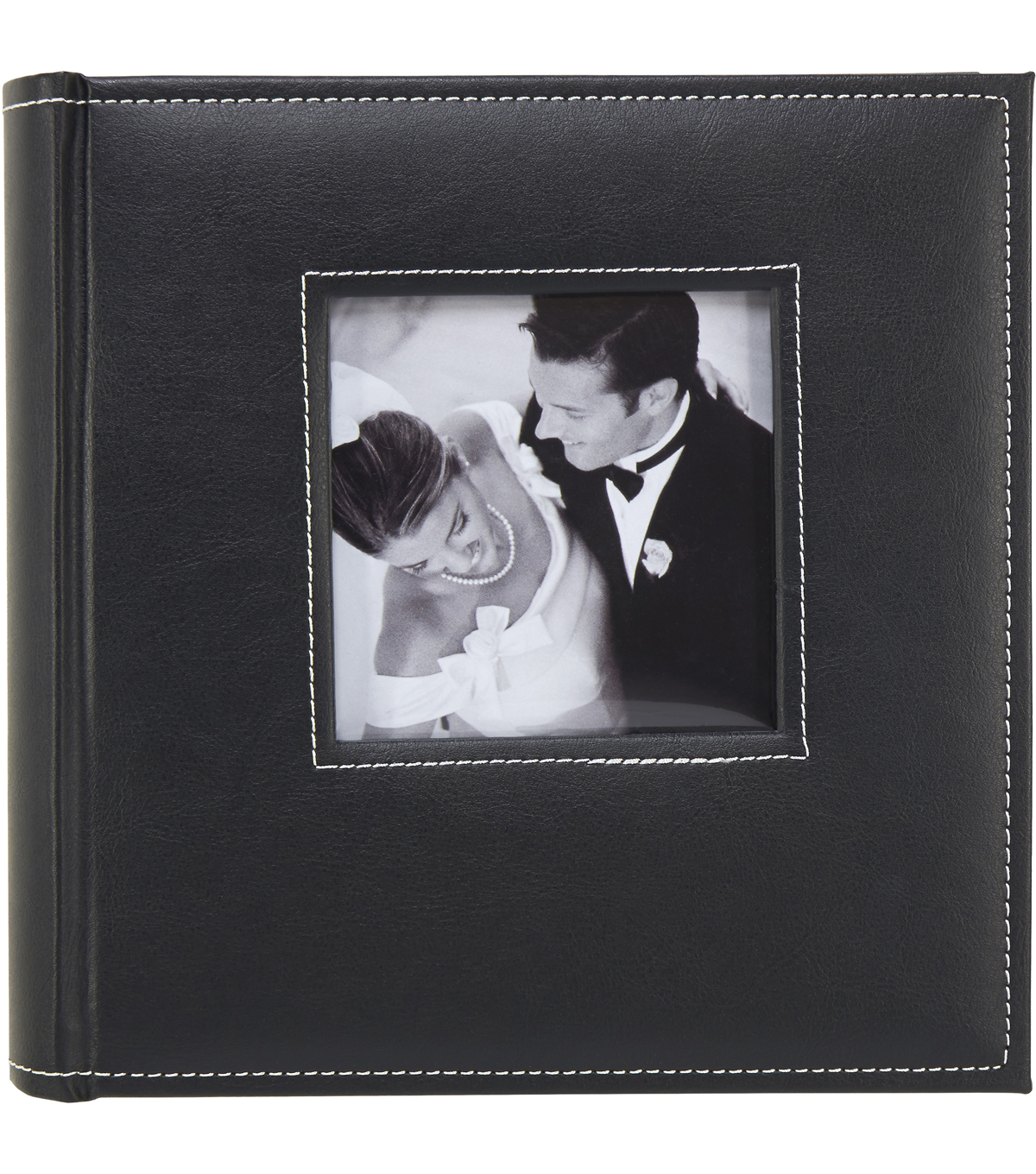 K&Company Black Faux Leather 2 Up Memo Photo Album