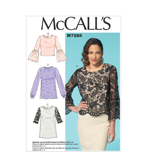 Mccall Pattern M7285-E50-Misses\u0027 Tops-14-16-18-20-22