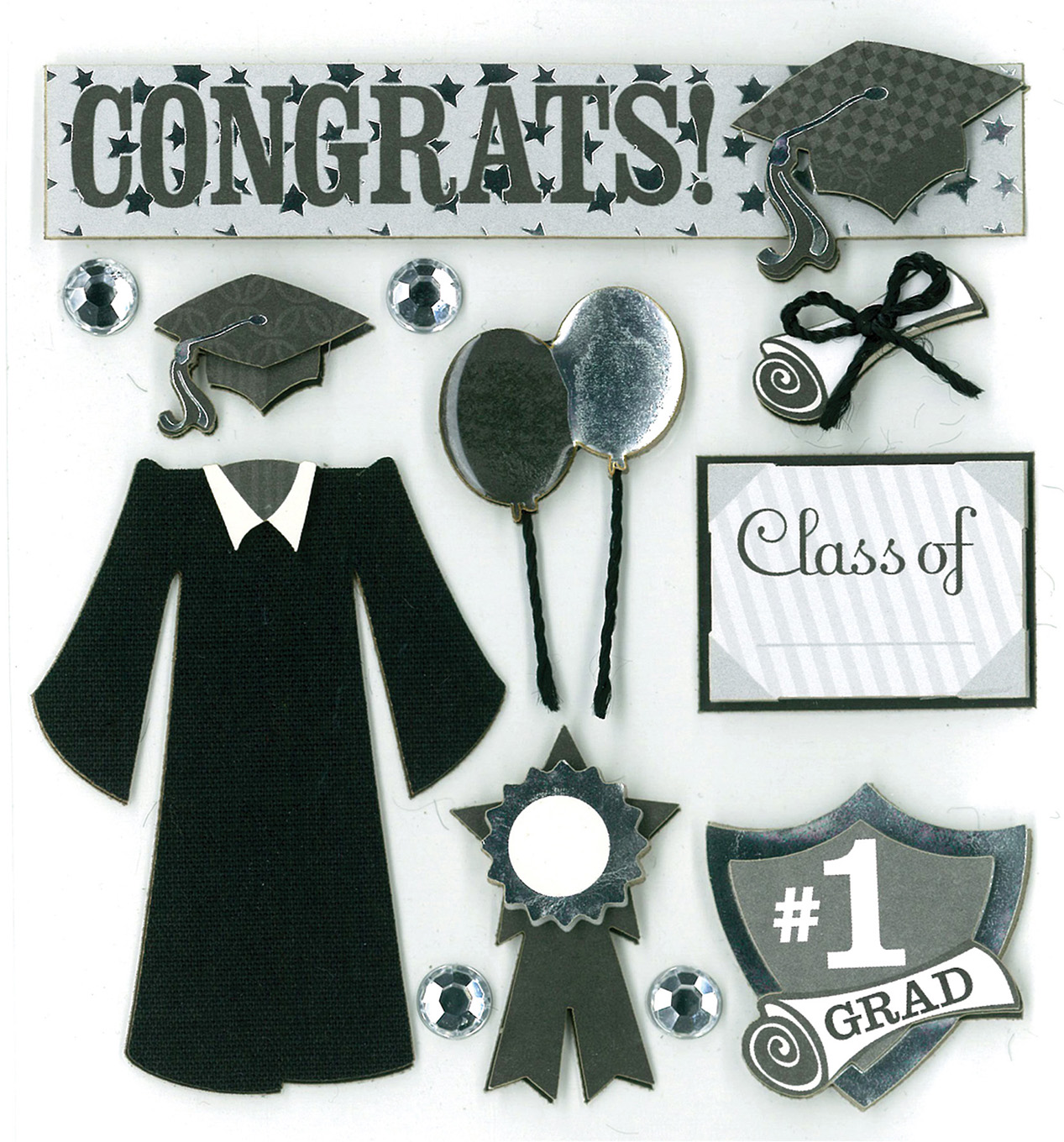 Craft Essential The Graduate Card Embellishments