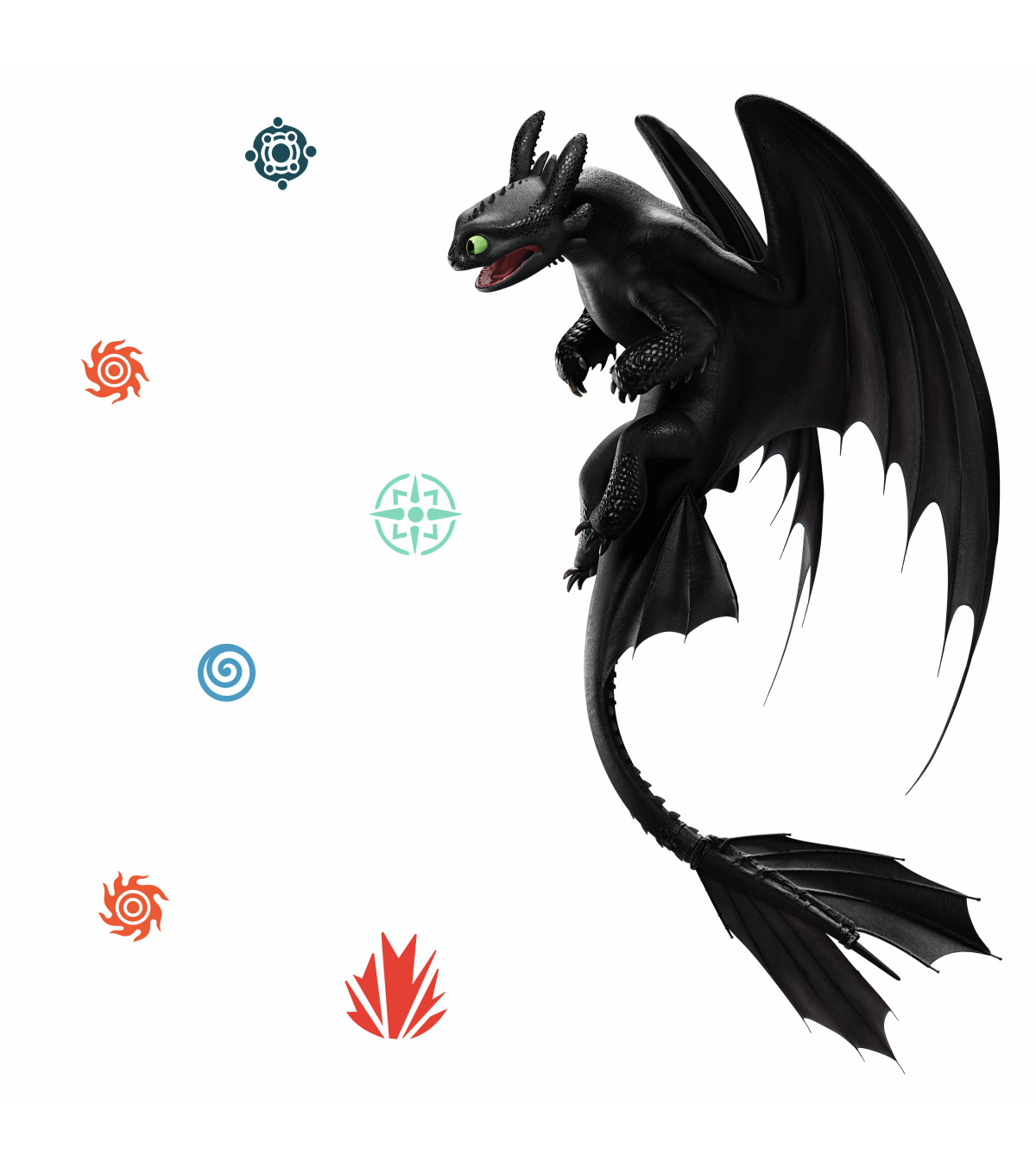York Wallcoverings Wall Decals-How to Train Your Dragon Toothless