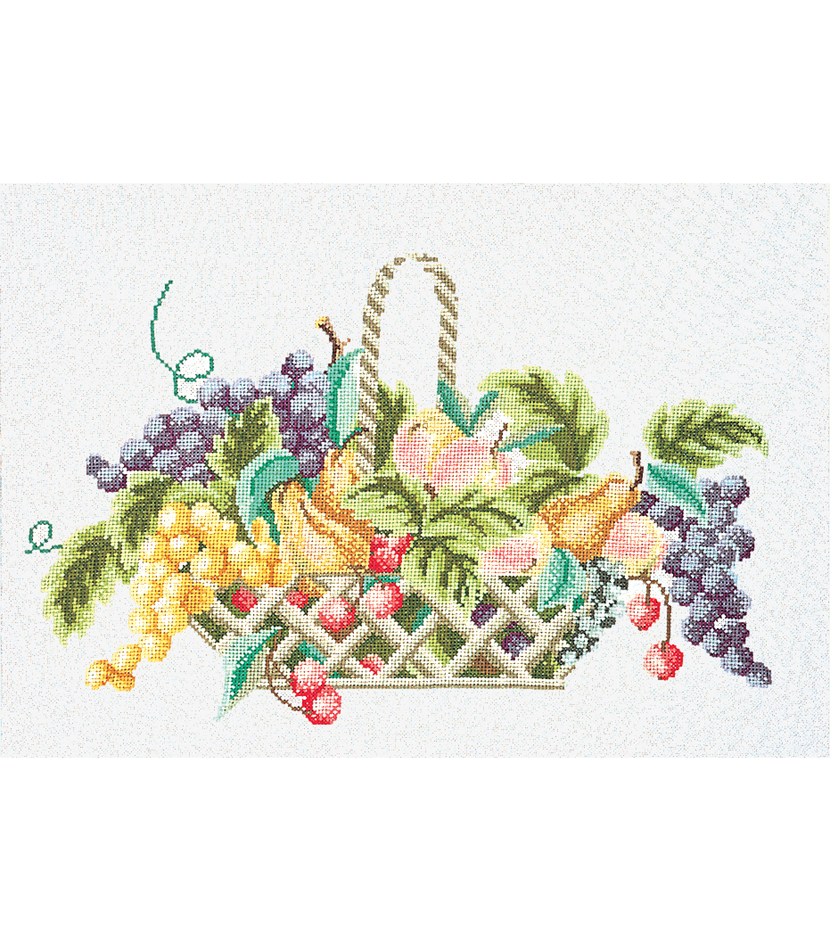 Thea Gouverneur Fruit Basket On Aida Counted Cross Stitch Kit