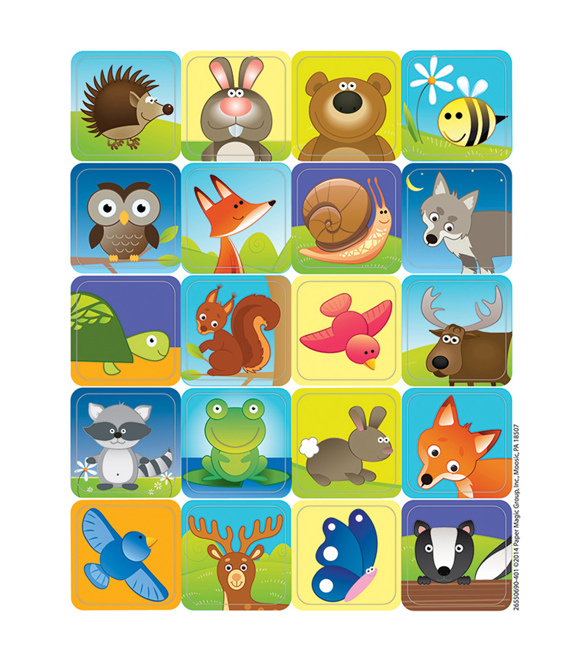Woodland Creatures Theme Stickers 12 Packs