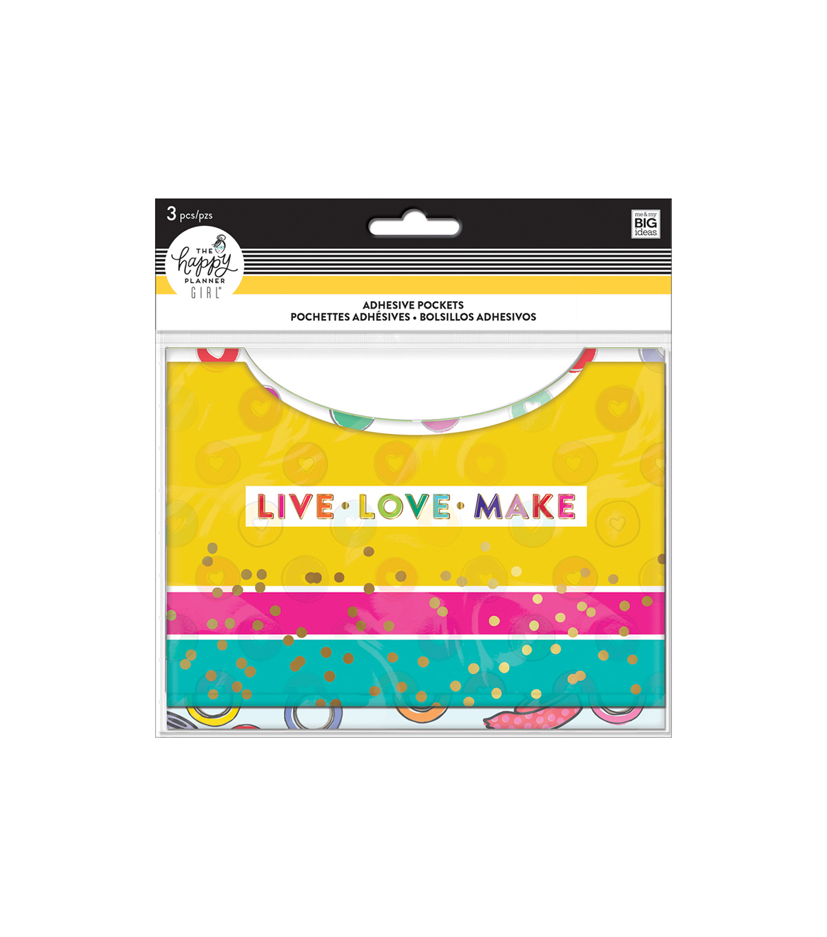 The Happy Planner Girl Adhesive Pockets-Miss Maker