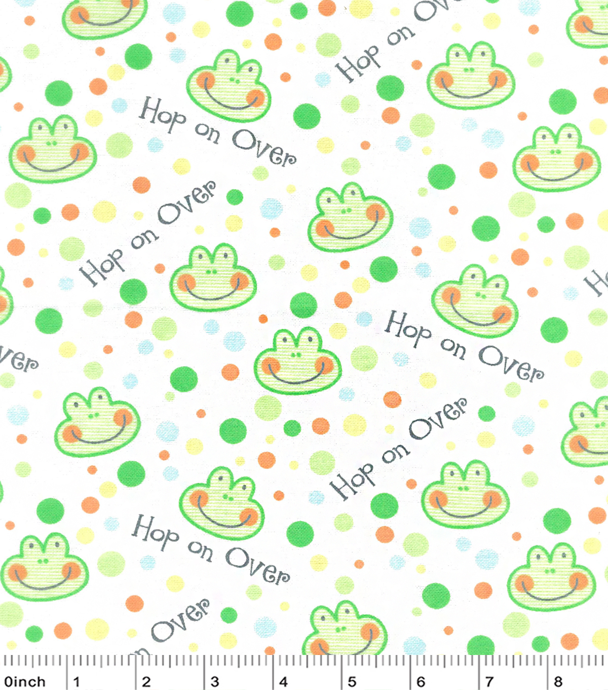 Nursery Flannel Fabric -Happy Jungle Hop On Over