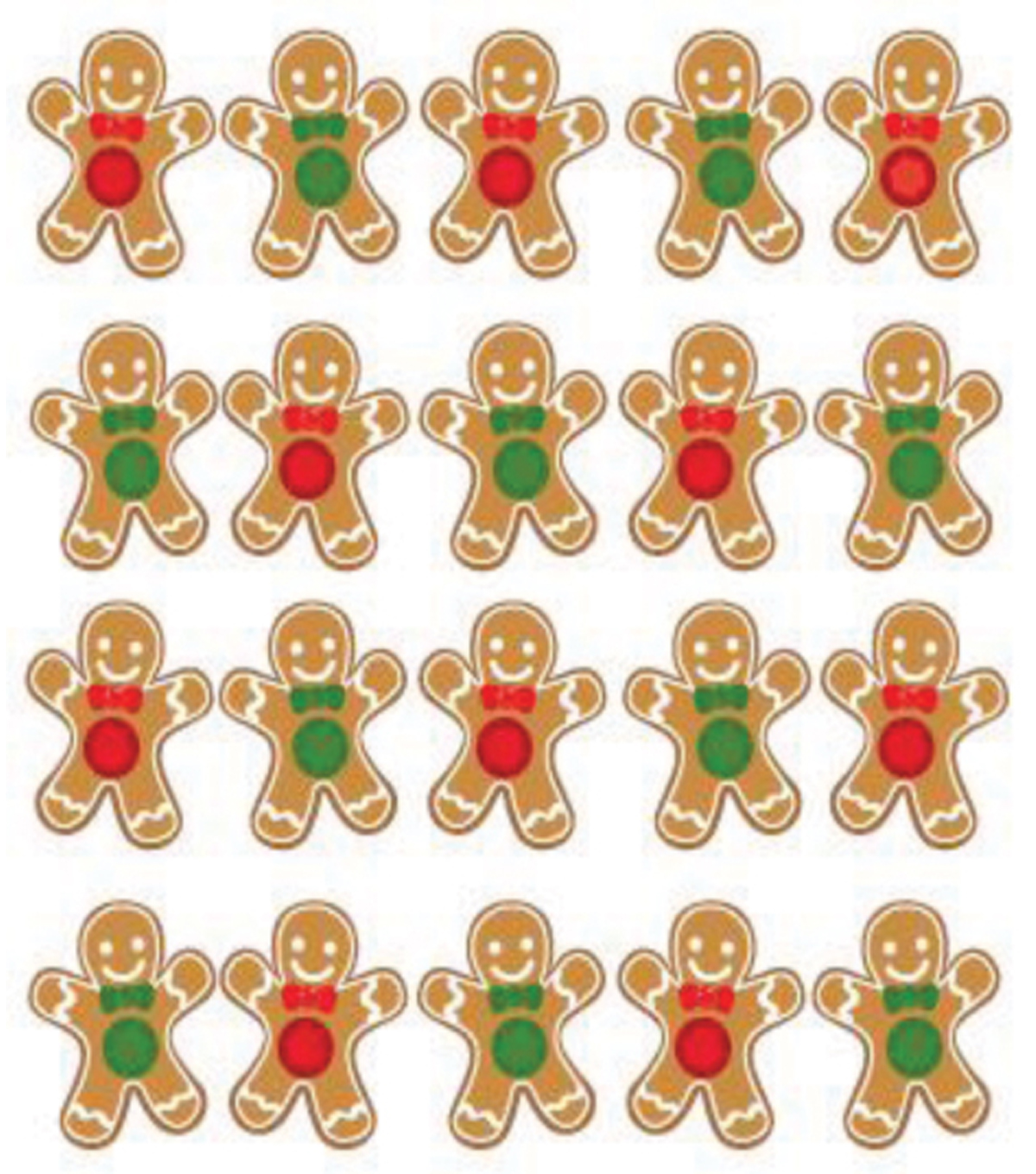 Jolee\u0027s Boutique Dimensional Stickers-Gingerbread Repeats