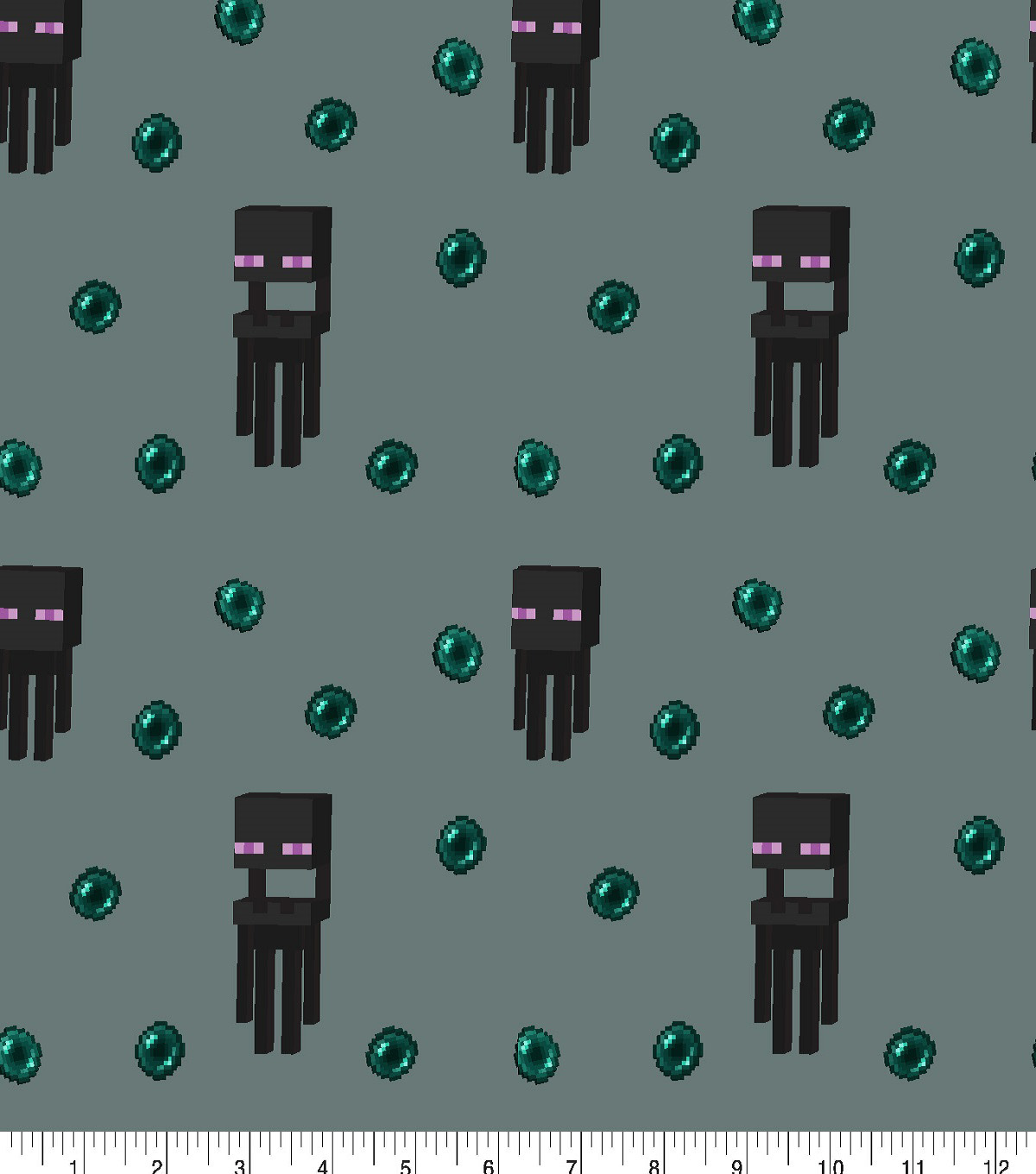 Minecraft Cotton Fabric -Nether Mobs