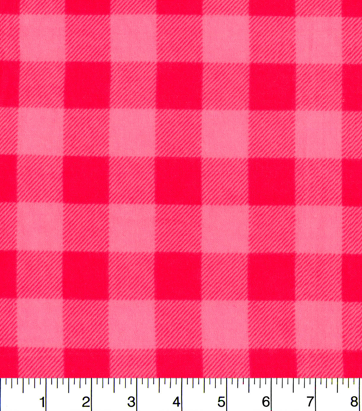 Snuggle Flannel Fabric -Pink Buffalo Check