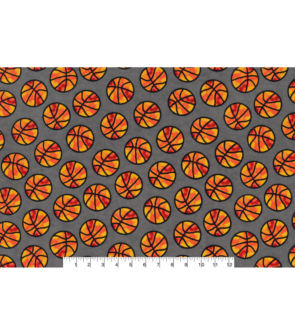 Snuggle Flannel Fabric 42\u0027\u0027-Camo Basketball