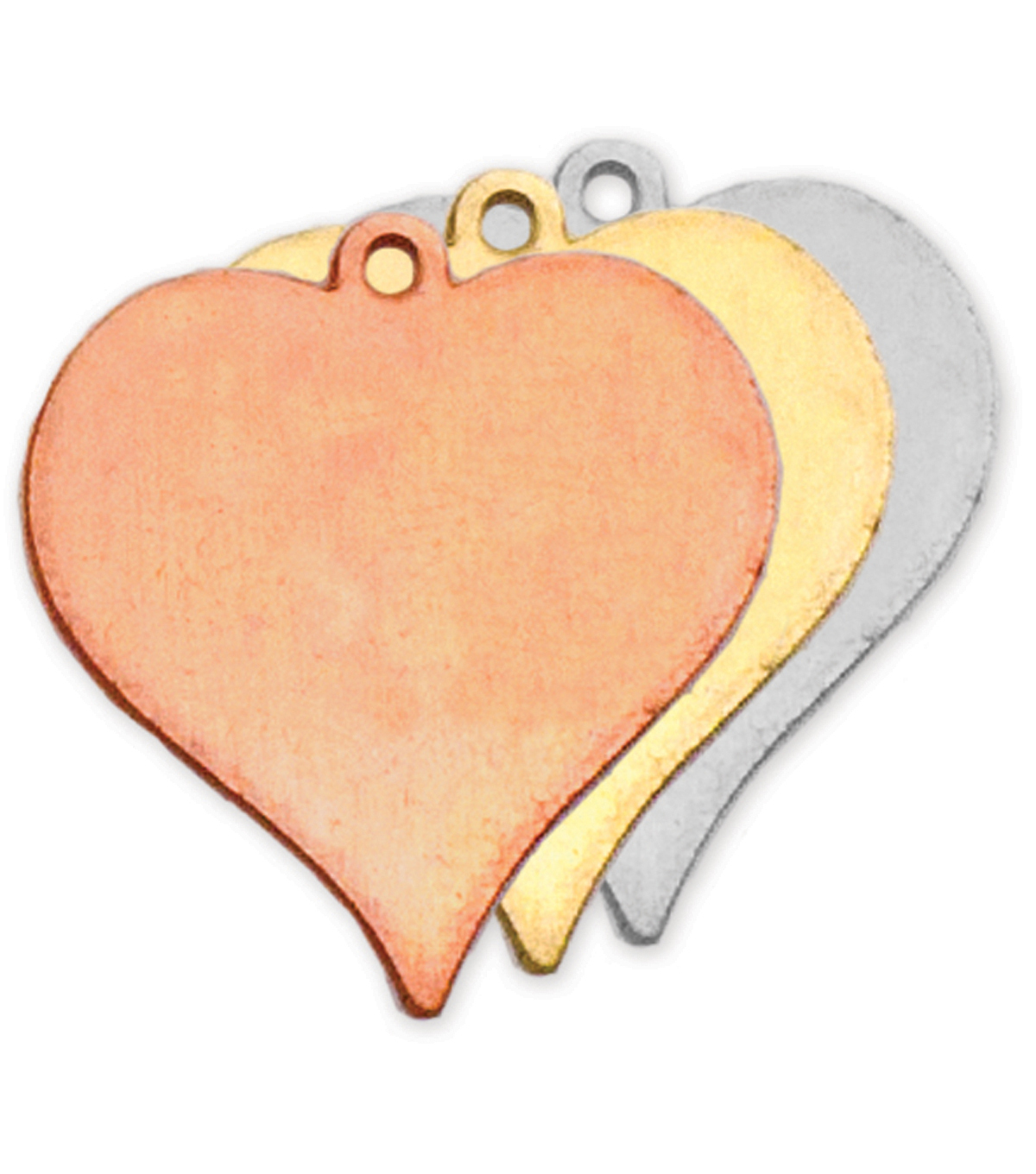 Stamping Blank Heart W/Ring 7/8\u0022 2/Pkg-Nickel Silver