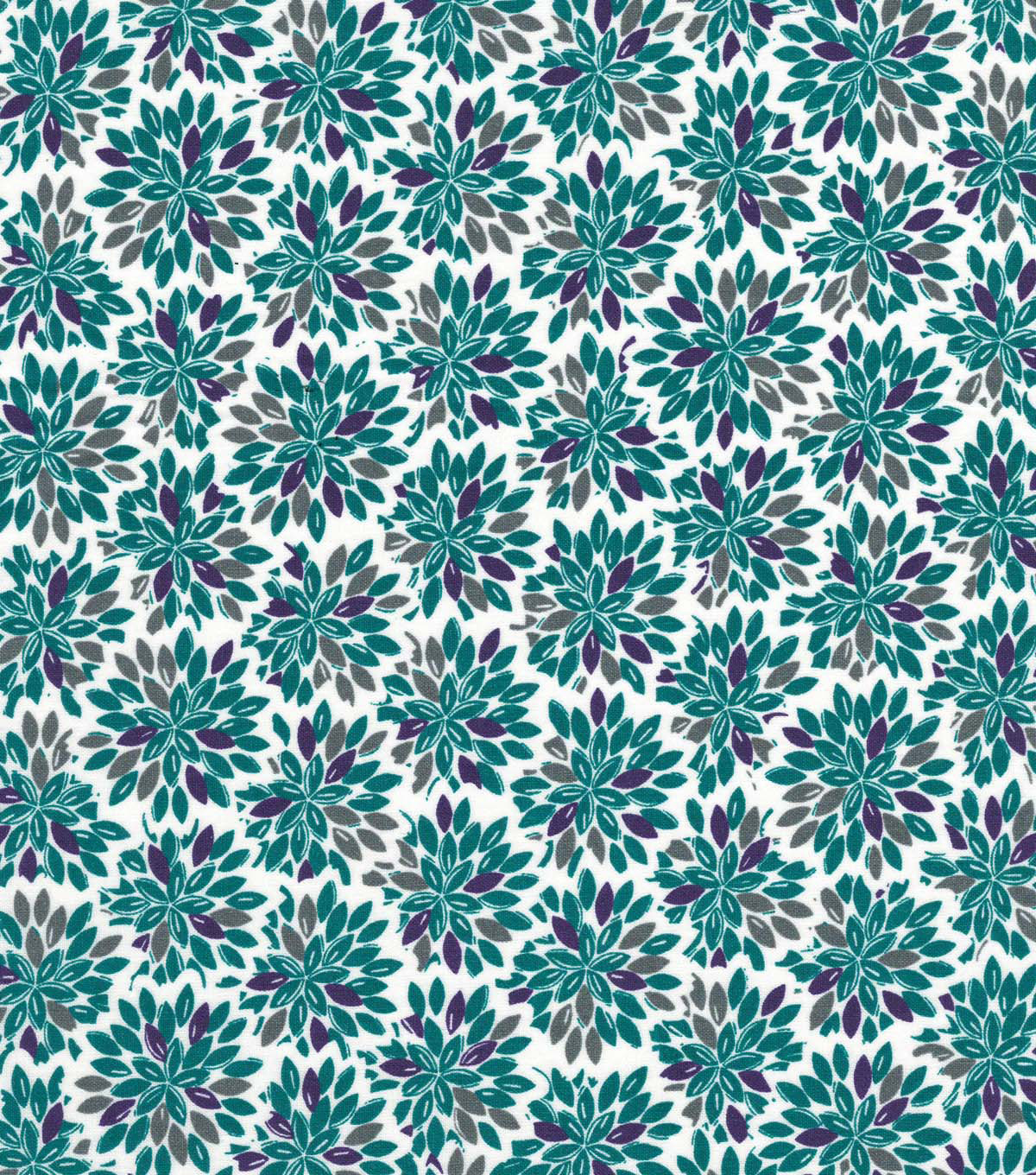 Quilter\u0027s Showcase Cotton Fabric 44\u0022-Grape Gray Floral Burst