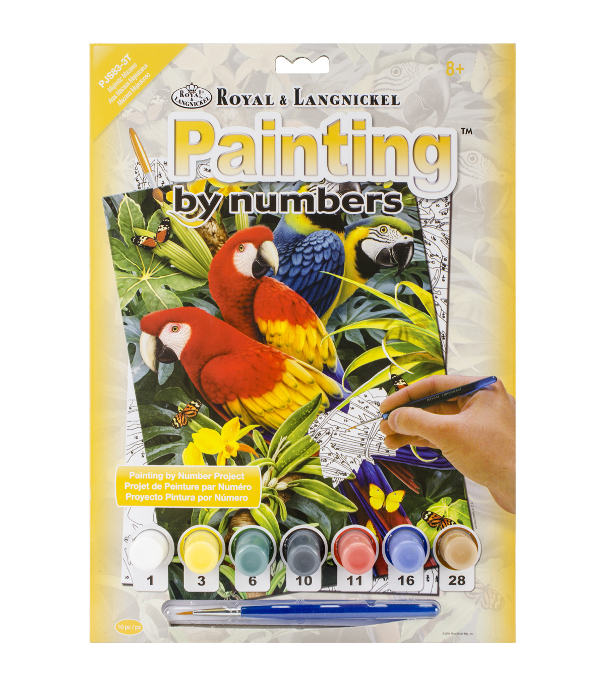 Royal Langnickel Majestic Macaws Junior Small Paint By Number Kit